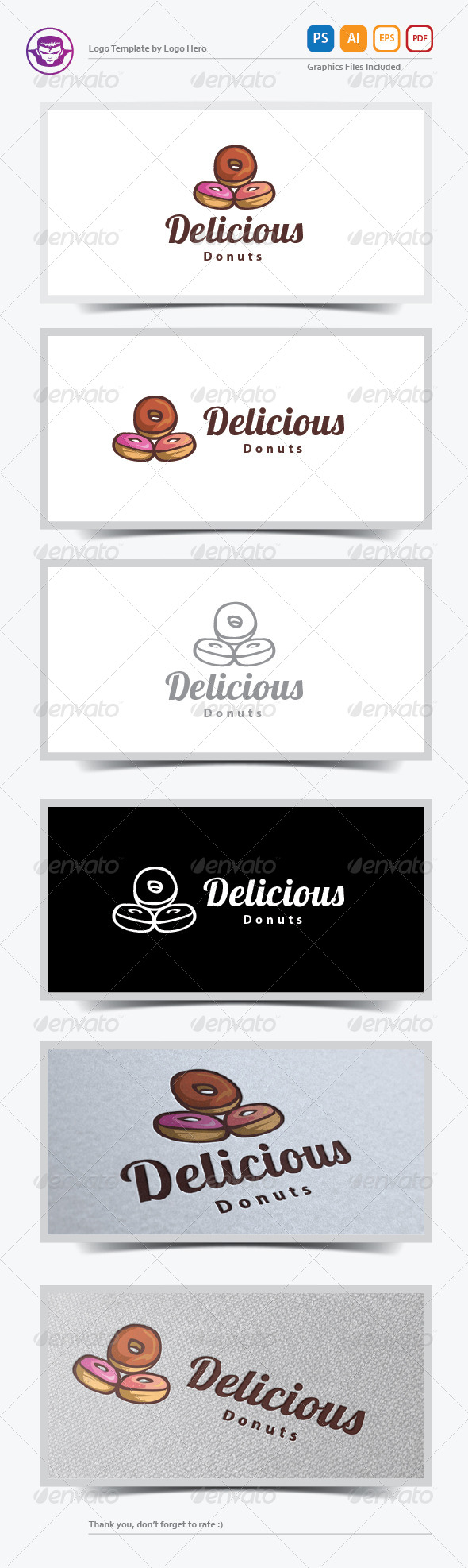 GraphicRiver Delicious Donuts Logo Template 5888881