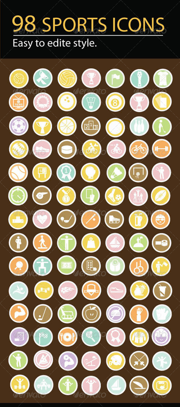 GraphicRiver Sports Icons 5889029