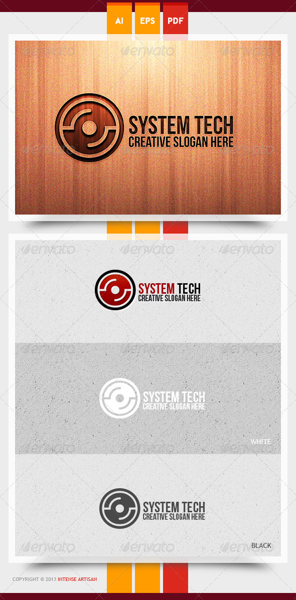 GraphicRiver System Tech Logo Template 5889163