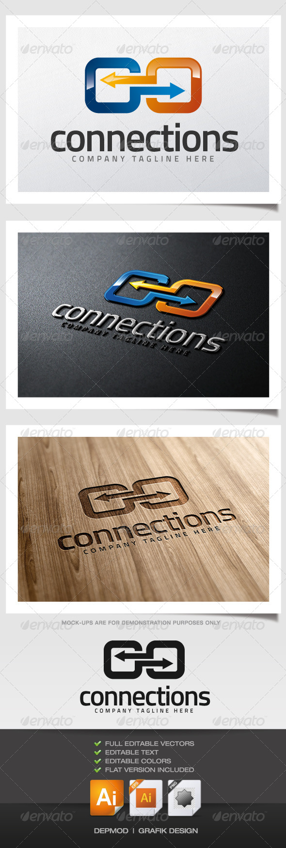 GraphicRiver Connections Logo 5889242