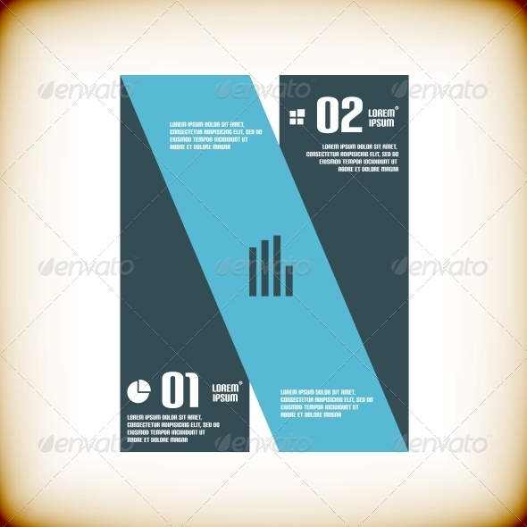 GraphicRiver Modern Ribbon Business Banner Template 5889567