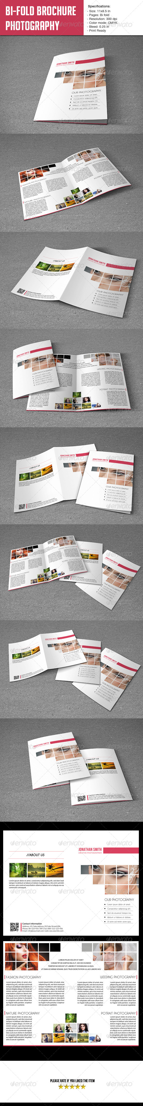 GraphicRiver Bifold Brochure-Photographer 5889746