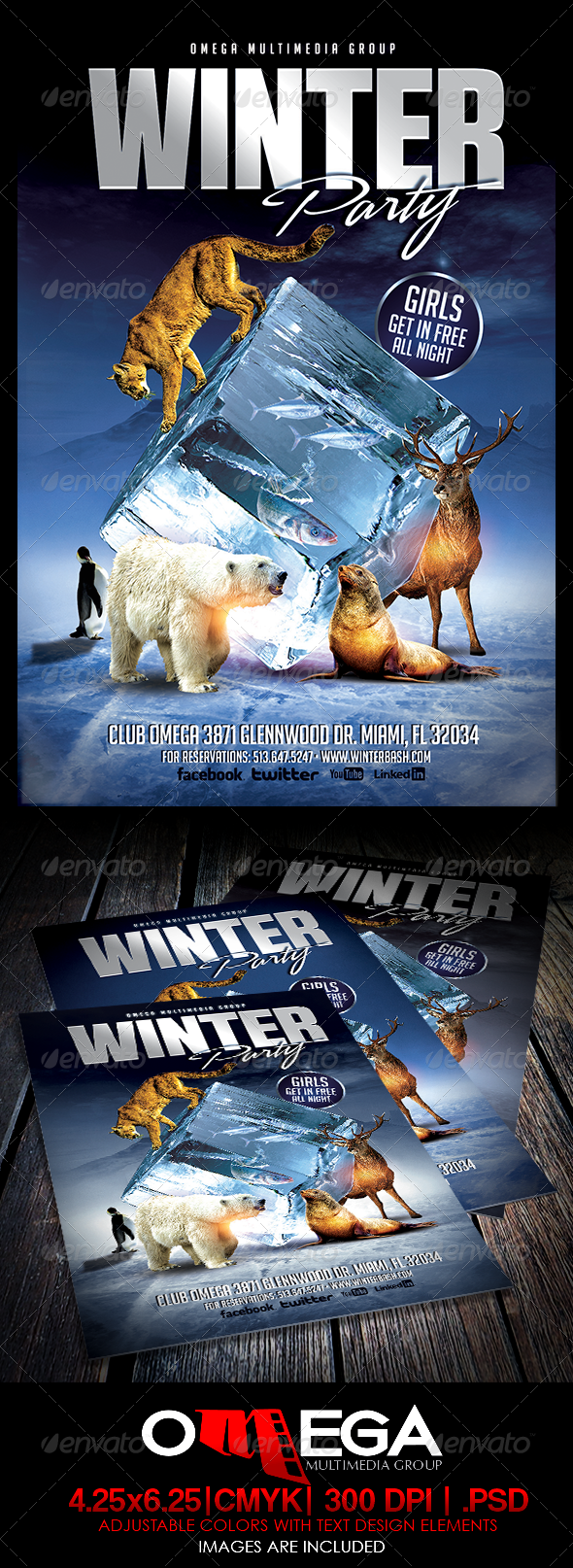 GraphicRiver Winter Party 5890611