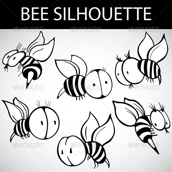 GraphicRiver Cartoon Bee 5891139