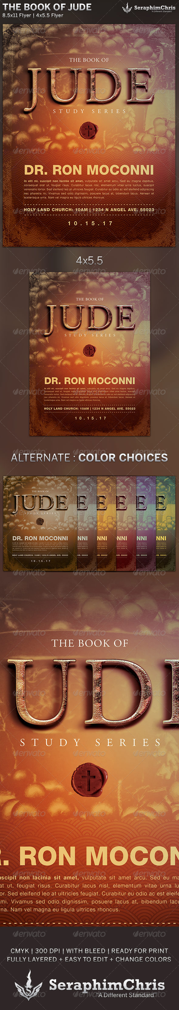 GraphicRiver The Book of Jude Church Flyer Template 5891277