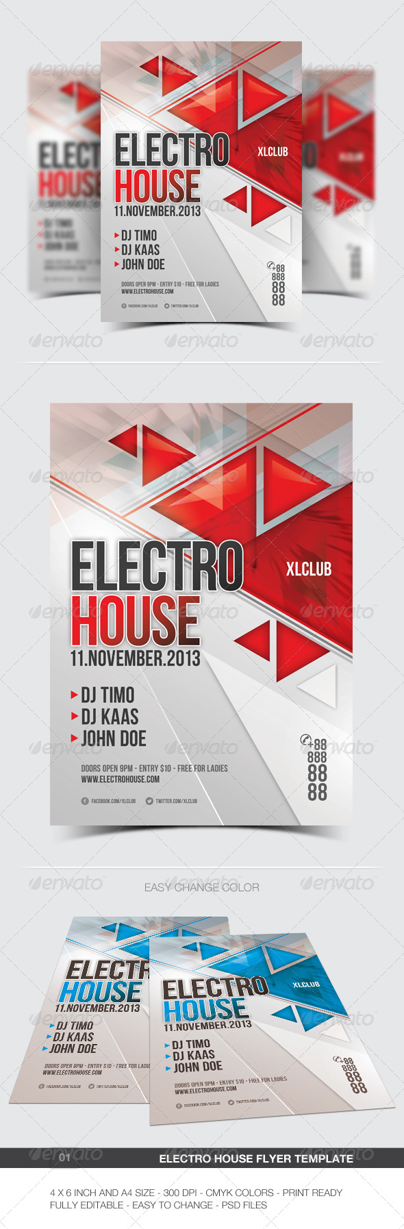 GraphicRiver Electro Flyer Poster 01 5891617