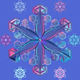 Vector blue transparent snowflake - GraphicRiver Item for Sale