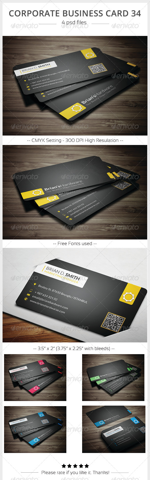 GraphicRiver Corporate Business Card 34 5891964