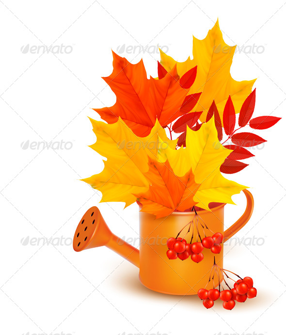 GraphicRiver Autumn Background with Colorful Leaves 5891984
