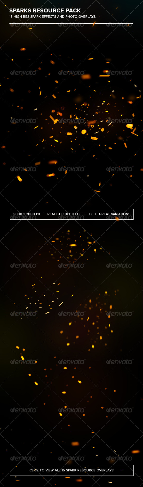 Sparks Photoshop Resource Pack - Decorative Graphics