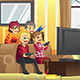 Kids Playing Video Games - GraphicRiver Item for Sale