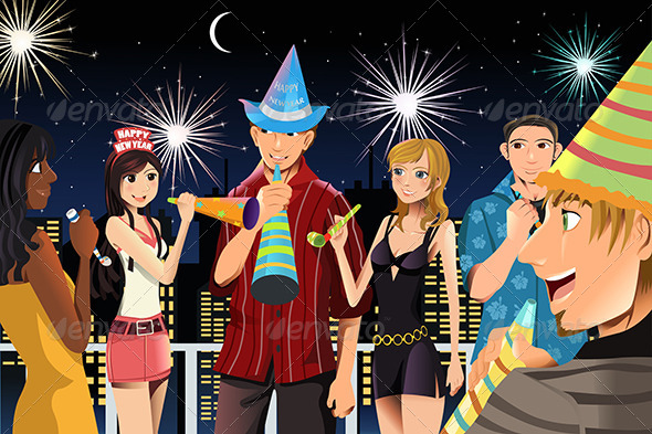 GraphicRiver New Year Celebration Party 5892638