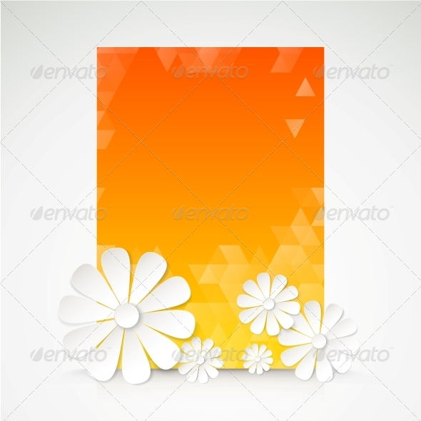 GraphicRiver Paper Flower Postcard 5893154