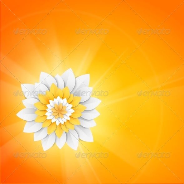 GraphicRiver Paper Flower Postcard 5893262