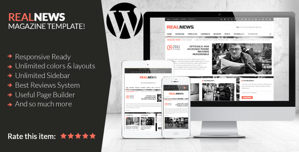 Realnews - Stylish and Responsive Magazine Theme - Blog / Magazine WordPress