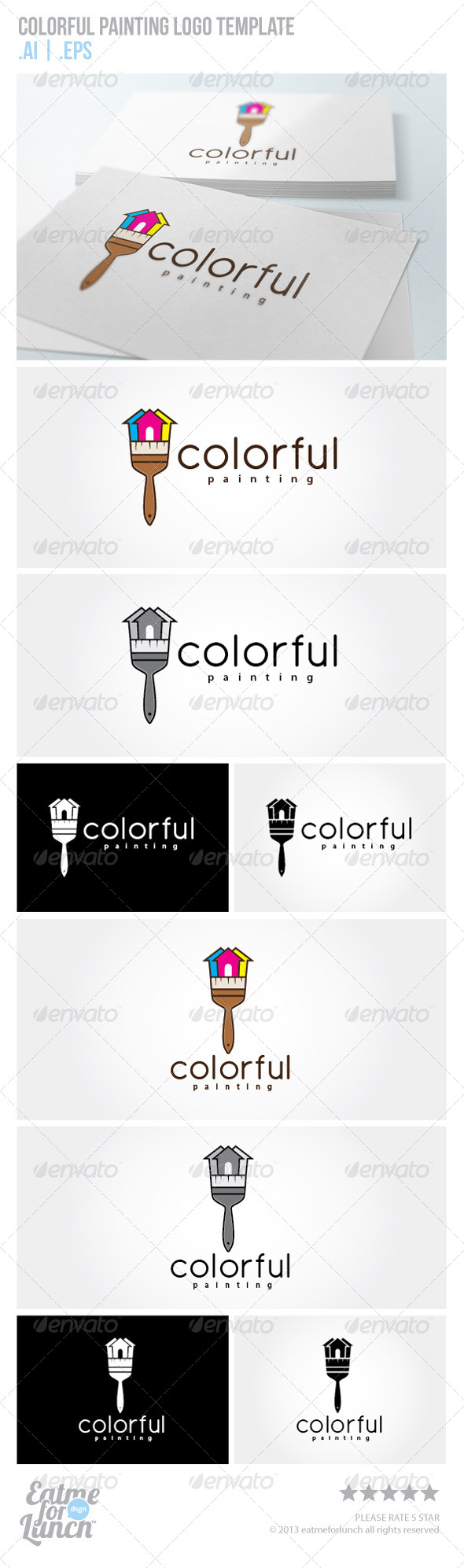 GraphicRiver Colorful Painting Logo Template 5893307
