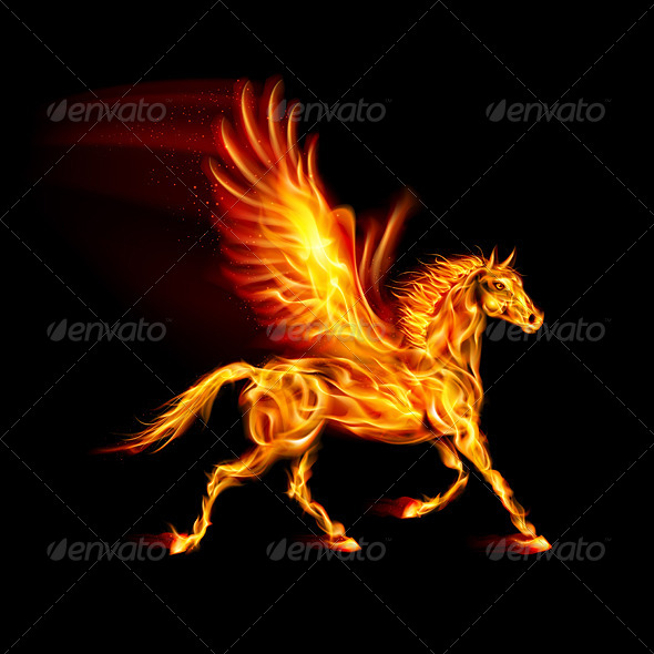 GraphicRiver Fire Pegasus 5893481