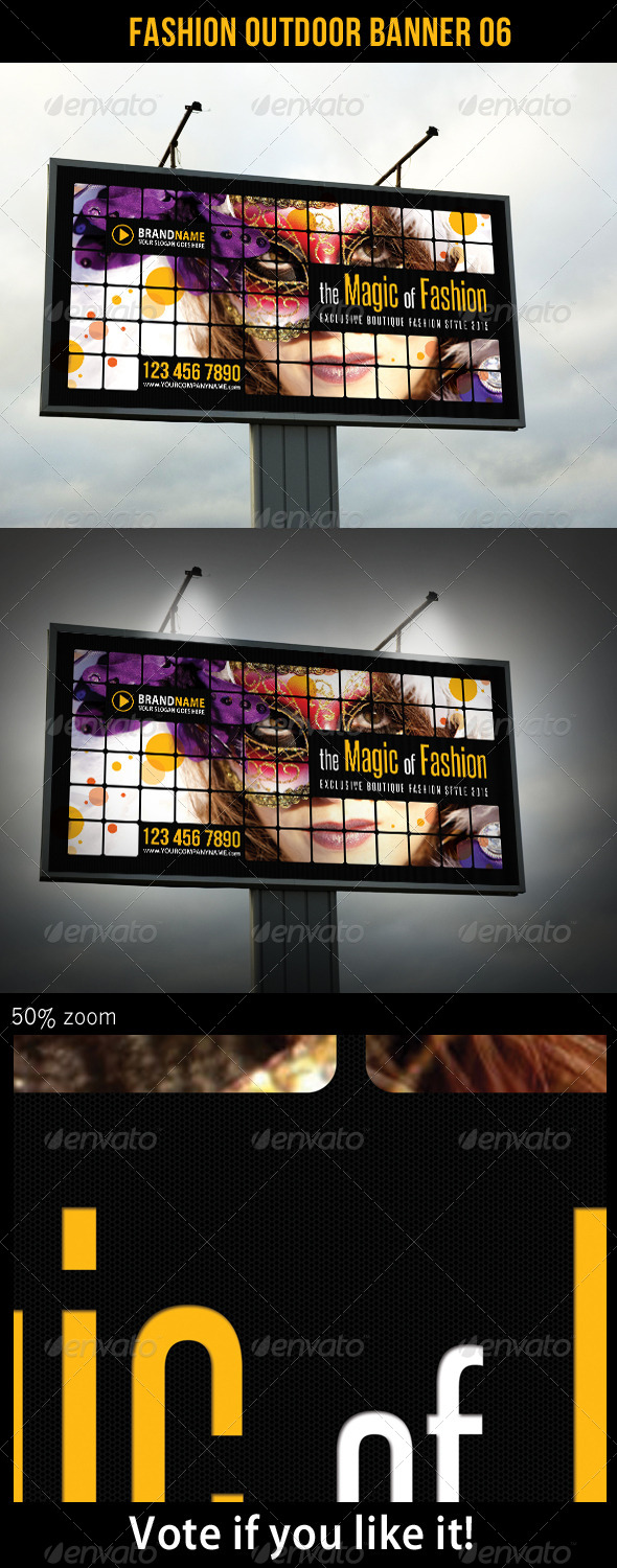Fashion Outdoor Banner 06 - Signage Print Templates