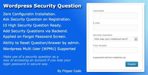 CodeCanyon Wordpress Security Question 5894819
