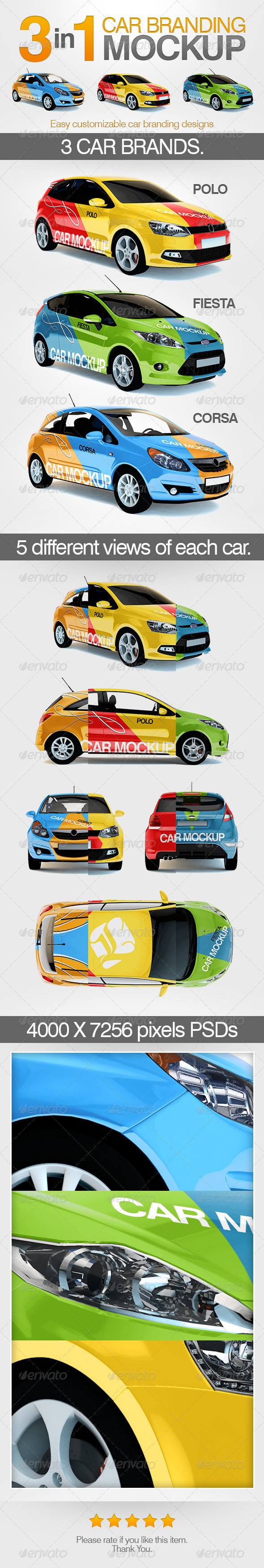 GraphicRiver 3in1 Car Branding Mock Up 5849901