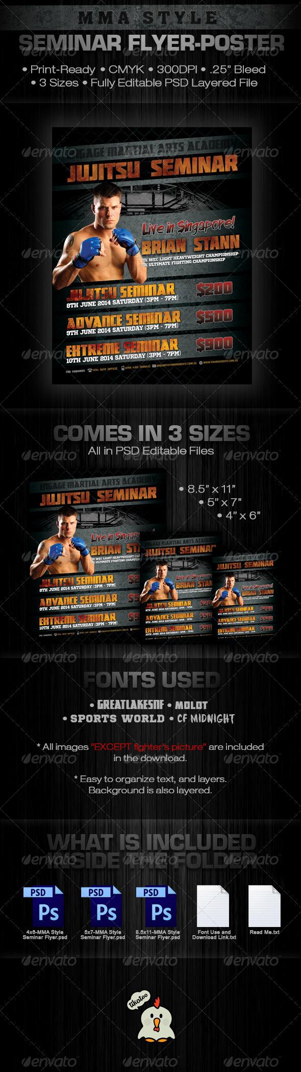 GraphicRiver MMA Style Seminar Flyer 5766765
