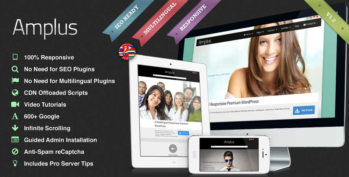 Amplus - Responsive Multilingual WordPress Theme