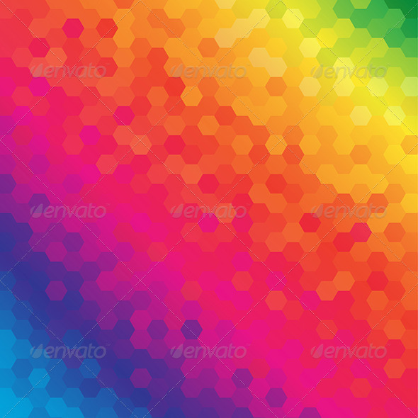 GraphicRiver Colorful Honeycomb Pattern Background 5895537