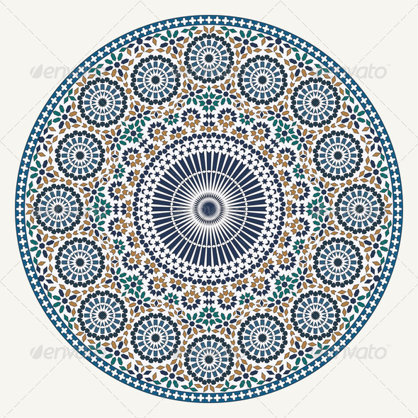 Arabic circular pattern - Stock Photo - Images