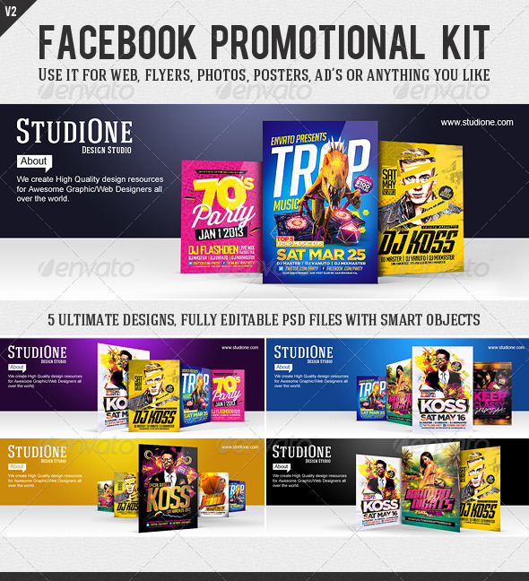 GraphicRiver FB Promotional Kit V2 5896428