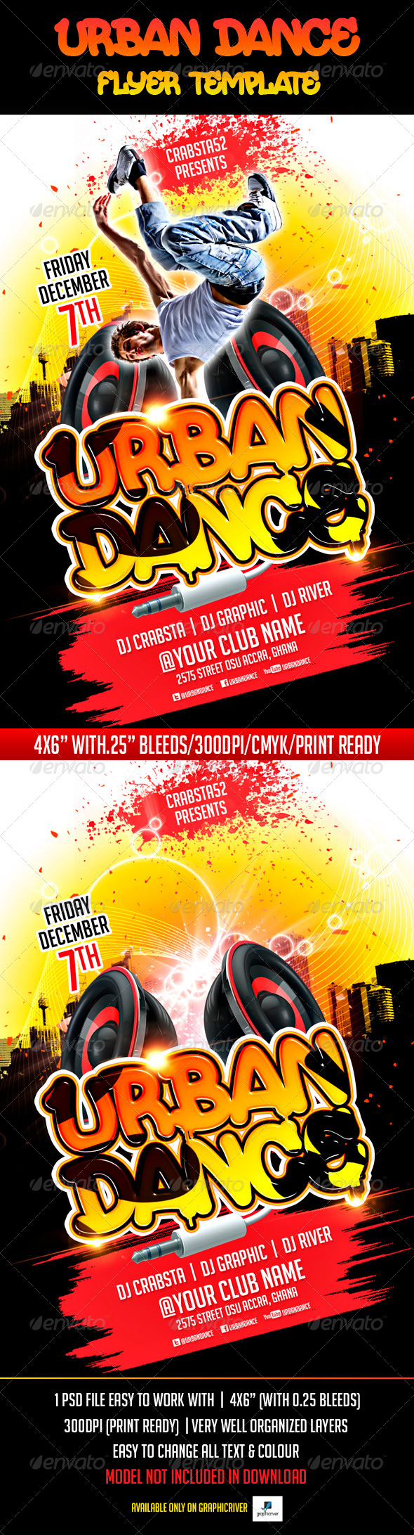GraphicRiver Urban Dance Flyer Template 5896470