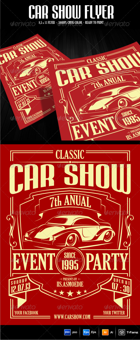 GraphicRiver Car Show Flyer Template 5857305