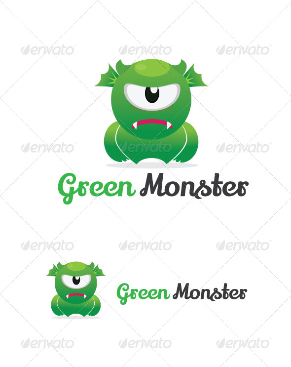 Green Monster - Humans Logo Templates