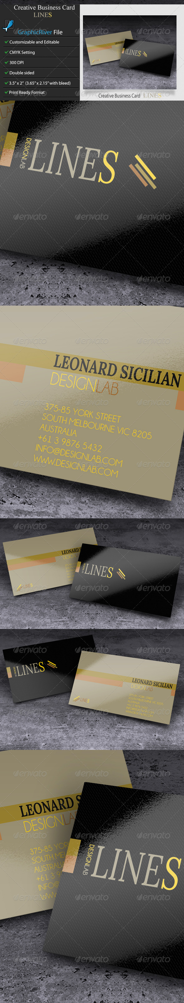 GraphicRiver Creative Business Card Lines 5896639