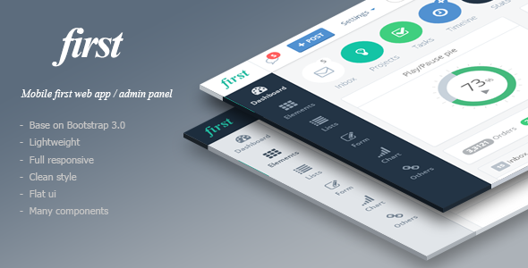 first - Mobile First Web App Theme - Admin Templates Site Templates