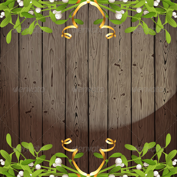 GraphicRiver Background with Mistletoe 5896679