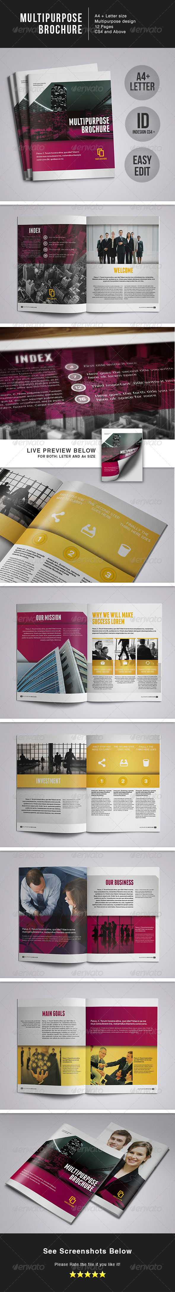 Multipurpose Brochure - A4+Letter - Corporate Brochures
