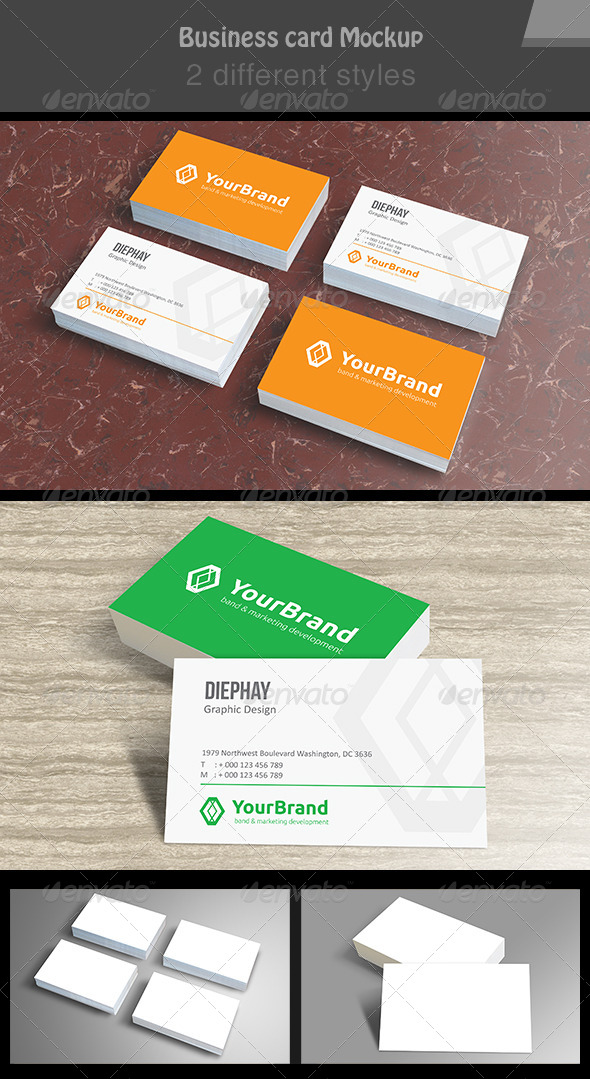 GraphicRiver Photo Real Wood Business Card Mockup 3326052