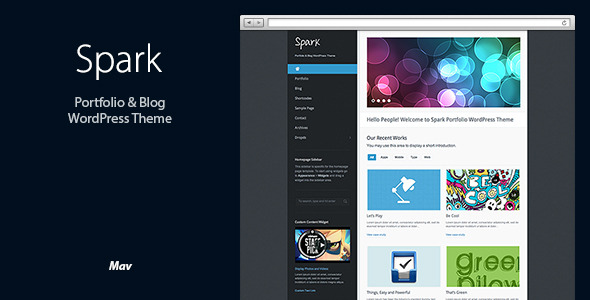 Spark: Portfolio & Blog WordPress Theme
