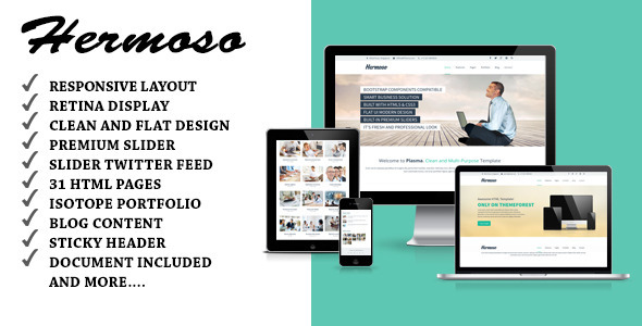 Hermoso - Multi-Purpose Responsive HTML Template - Business Corporate