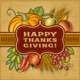 Happy Thanksgiving Retro Card - GraphicRiver Item for Sale