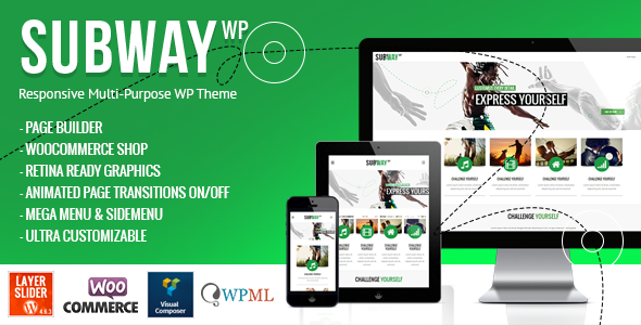ThemeForest Subway Responsive Multi-Purpose WordPress Theme 5898023