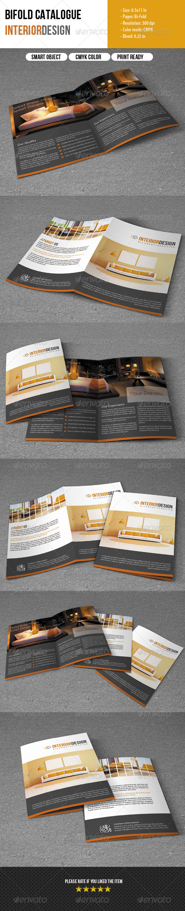 GraphicRiver Bifold Brochure- Interior Design 5898341