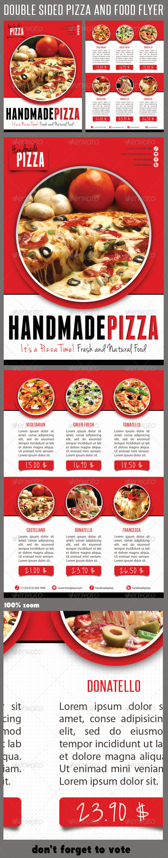 Food And Pizza Menu Flyer - Restaurant Flyers