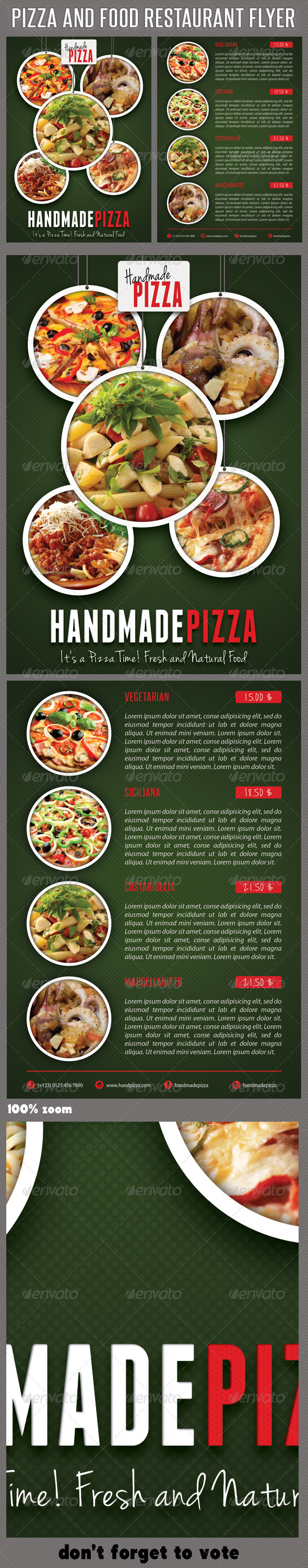 Food And Pizza Menu Flyer 03 - Restaurant Flyers