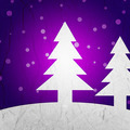 Violet Christmas Tree Background - PhotoDune Item for Sale