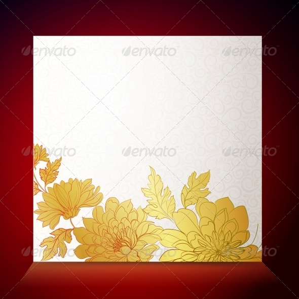 GraphicRiver Card Background from Chrysanthemums 5899765