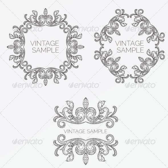 GraphicRiver Vintage Frame 51 5900386