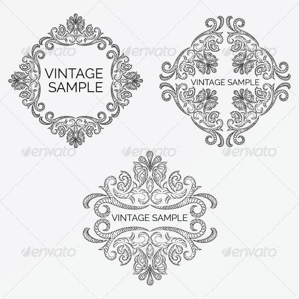 GraphicRiver Vintage Frame 52 5900395