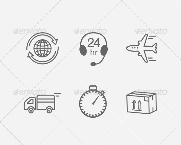 GraphicRiver Logistic Icon 5900646