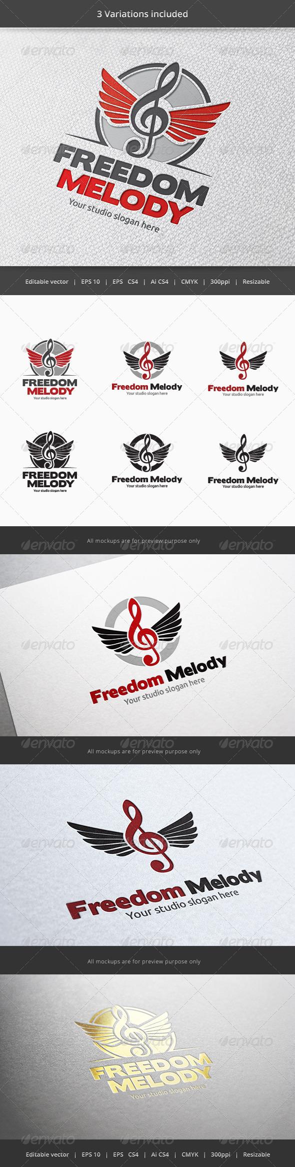 GraphicRiver Freedom Music Logo 5900661